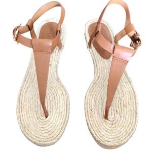COACH BREEZE NUDE ESPADRILLE THONG SANDALS SIZE 9